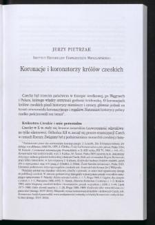Koronacje i koronatorzy królów czeskich