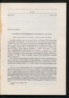 Zapomniany spis mieszczan oławskich z 1586 roku. Próba oszacowania zaludnienia Oławy w końcu XVI wieku