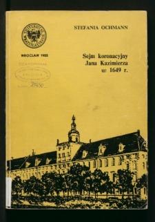 Sejm koronacyjny Jana Kazimierza w 1649 r.