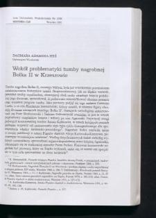 Wokół problematyki tumby nagrobnej Bolka II w Krzeszowie