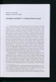 """""""Projekty medialne"""" w edukacji historycznej"""