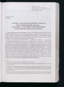 "...omnique conversacionis perfectione Falderense illud collegium primitu claruerit... Kanonicy z Faldery (Neumünster) w Helmolda ""Kronice Słowian"""