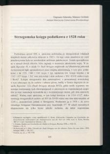 Strzegomska księga podatkowa z 1528 roku