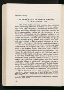 Ze studiów nad początkami sukiennic w Polsce (XIII-XIV w.)