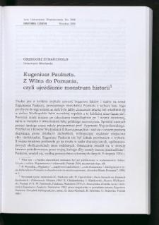 Eugeniusz Paukszta. Z Wilna do Poznania, czyli ujeżdżanie monstrum historii
