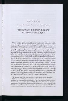 Wrocławscy historycy dziejów wczesnonowożytnych