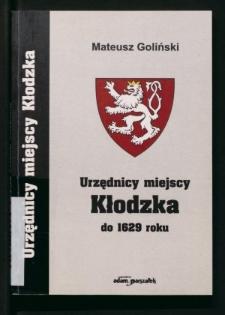 Urzędnicy miejscy Kłodzka do 1629 roku