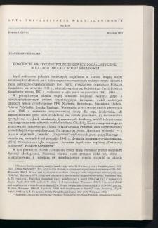Koncepcje polityczne polskiej lewicy socjalistycznej w latach drugiej wojny światowej