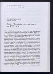 Rosja - Czeczenia: pierwsze starcia (do 1835 roku)