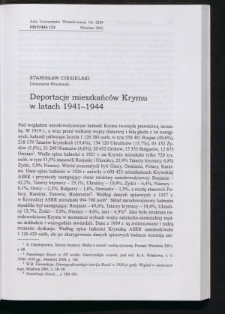 Deportacje mieszkańców Krymu w latach 1941-1944,
