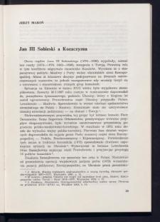 Jan III Sobieski a Kozaczyzna