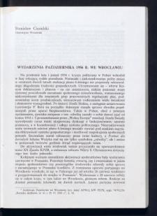 Wydarzenia października 1956 r. we Wrocławiu