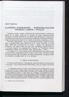 Kazimierz Ołdziejewski - współorganizator polskich targów i wystaw