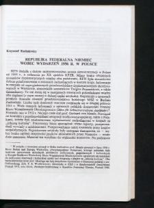 Republika Federalna Niemiec wobec wydarzeń 1956 r. w Polsce