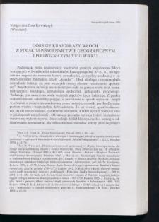 Górskie krajobrazy Włoch w polskim piśmiennictwie geograficznym i podróżniczym XVIII wieku