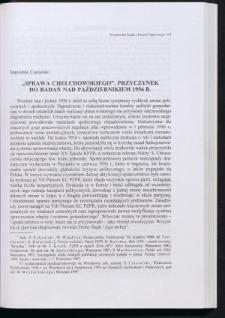 """""""Sprawa Chełchowskiego"""". Przyczynek do badań nad październikiem 1956 r."""