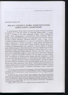 Polacy litewscy wobec Komunistycznej Partii Litwy i komunizmu