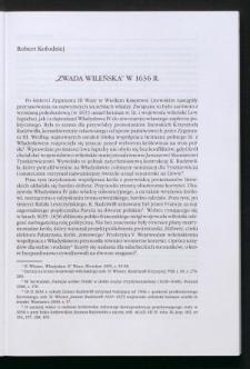 """""""Zwada wileńska"""" w 1636 r."""