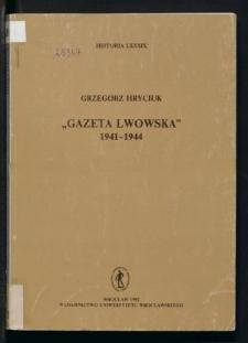 """Gazeta Lwowska"" 1941-1944"