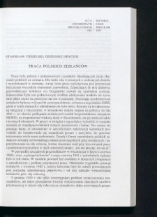 Praca polskich zesłańców