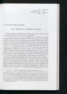 Stan zdrowia ludności polskiej