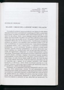 Władze i miejscowa ludność wobec Polaków