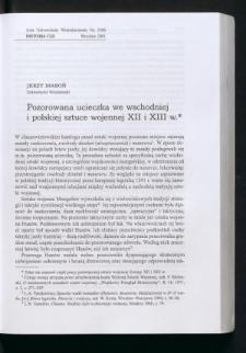 Pozorowana ucieczka we wschodniej i polskiej sztuce wojennej XII i XIII w.