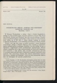 """Podarowanie obrazu """"Sobieski pod Wiedniem"""" papieżowi Leonowi XIII. Prawda i mity"""