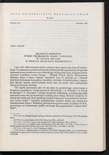 Szlachta koronna wobec problemów wojny tureckiej w latach 1687-1690 w świetle instrukcji sejmikowych