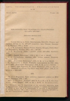 Bibliografia prac Władysława Czaplińskiego za lata 1975-1982