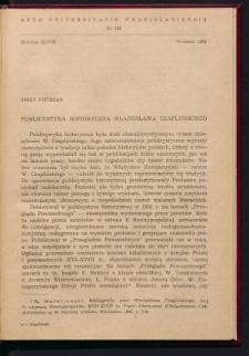 Publicystyka historyczna Profesora Władysława Czaplińskiego