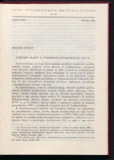 Ludność Oławy w pierwszym ćwierćwieczu XIX w.