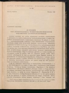 Ze studiów nad autentycznością wczesnośredniowiecznych dokumentów zachodniopomorskich