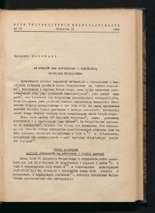Ze studiów nad dokumentami i kancelarią Bolesława Wstydliwego
