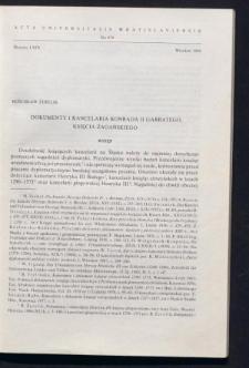 Dokumenty i kancelaria Konrada II Garbatego, księcia żagańskiego