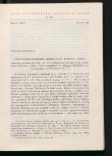 Późnośredniowieczna kompilacja dziejów Polski