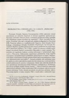 """Problematyka górnośląska na łamach """"Przełomu"""" (1926-1935)"""