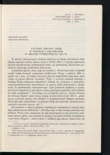 Systemy uprawy ziemi w powiecie lublinieckim w drugim ćwierćwieczu XIX w.