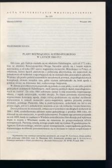 Plany rozwiązania austro-polskiego w latach 1866-1913