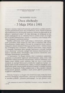 Dwa obchody - 3 Maja 1916 i 1981
