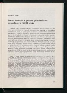 Obraz Ameryki w polskim piśmiennictwie geograficznym XVIII wieku
