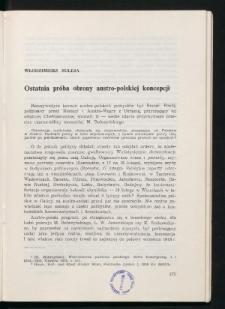 Ostatnia próba obrony austro-polskiej koncepcji