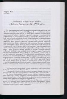 Sanktuaria Maryjne ziem ruskich w kulturze Rzeczypospolitej XVIII wieku