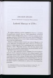 Ludność Marczyc w 1779 r.