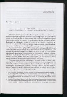 """""""Prawda"""" wobec stosunków polsko-radzieckich 1918-1920"""