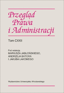 Polityczność kontroli konstytucyjności aktów normatywnych w systemie prawa polskiego — wybrane problemy