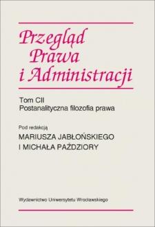 Postanalityczna filozofia prawa wobec poglądów Paula Ricoeura
