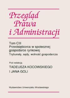 Zapobieganie patologii korupcji w zarządzaniu spółkami Skarbu Państwa oraz spółkami samorządowymi — wybrane zagadnienia
