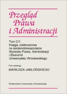Dzieje Zakładu Powszechnej Historii Państwa i Prawa Uniwersytetu Wrocławskiego