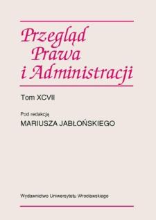 Recenzja: Aldona Domańska, Pozycja ustrojowo-prawna Rzecznika Praw Obywatelskich, Wydawnictwo Uniwersytetu Łódzkiego, Łódź 2012, 282 ss.